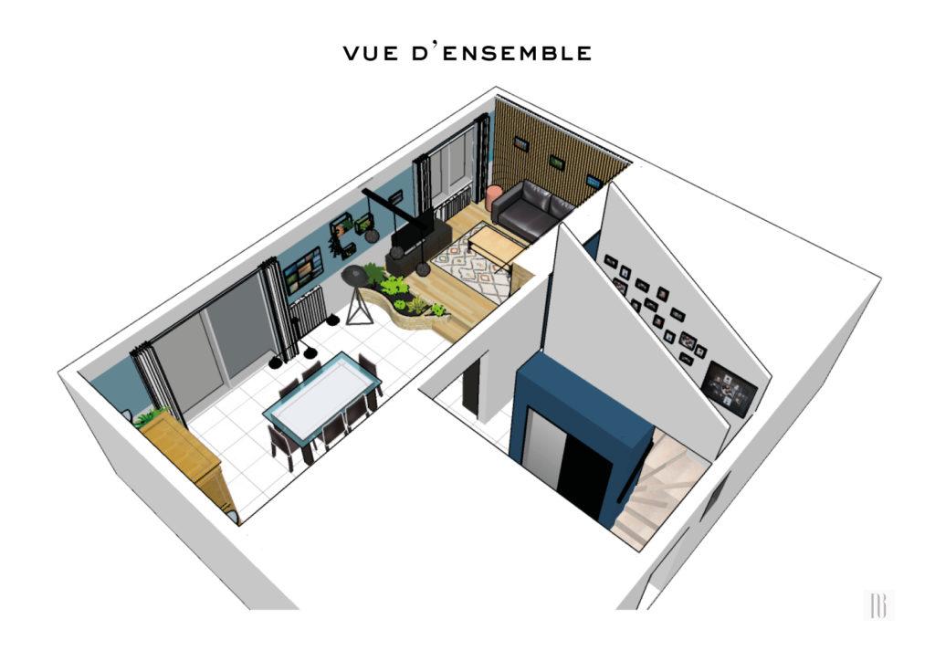 Conception déco du rez-de-chaussée d'une maison individuelle - Vern sur Seiche (35)