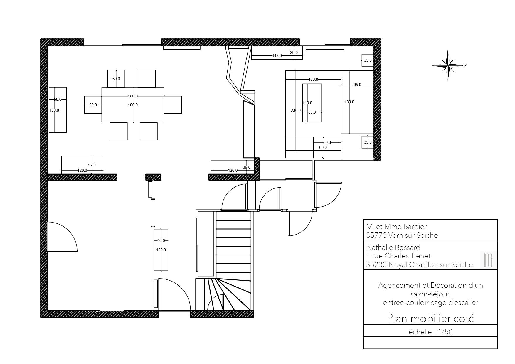 Nathalie Bossard décoration architecture intérieur Rennes 35 UFDI-390 Book déco maison individuelle Vern sur Seiche Ille et Vilaine plan agencement mobilier