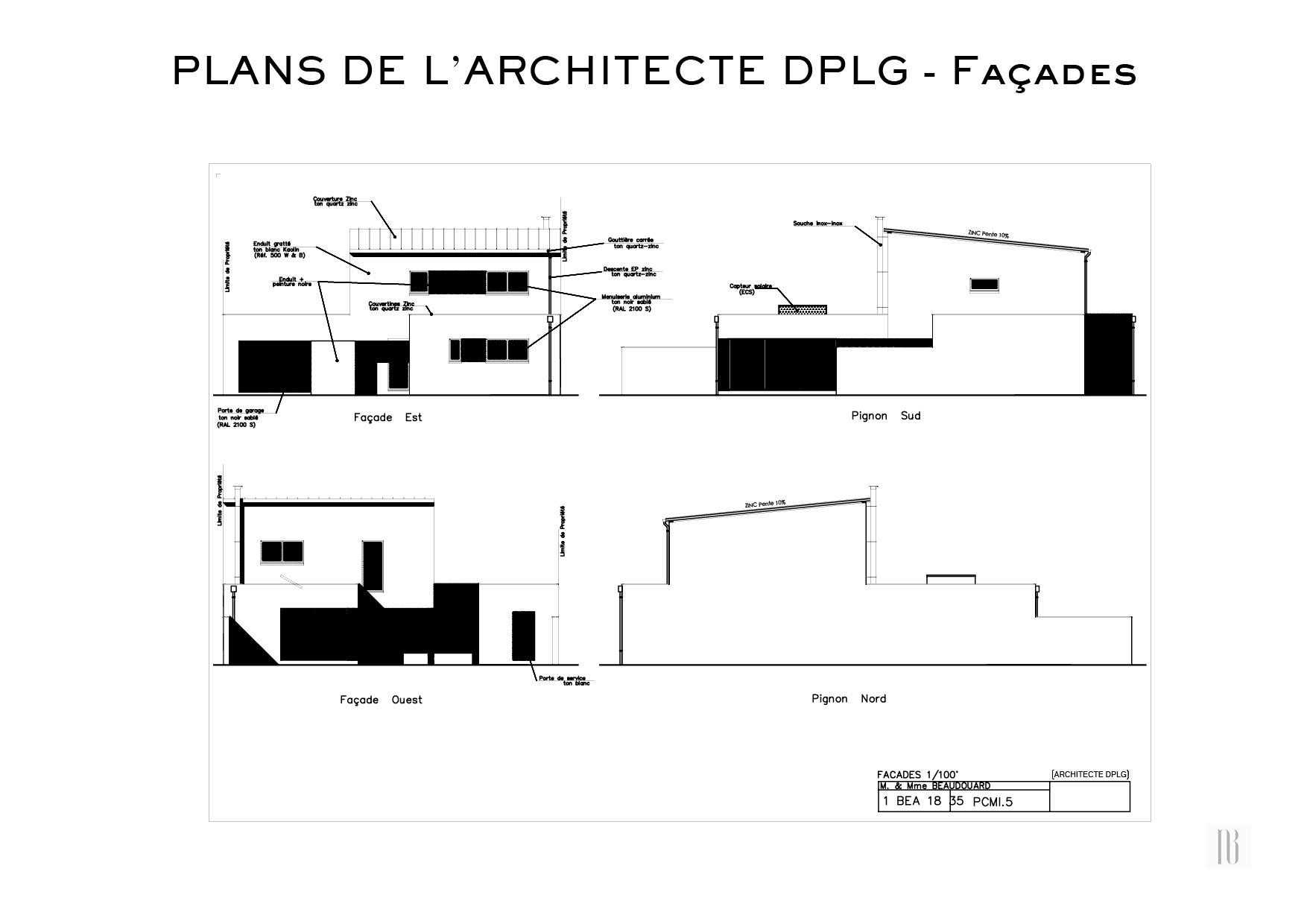 Nathalie Bossard décoration architecture intérieur Rennes 35 UFDI-390 Book déco maison en construction Bédée Ille et vilaine plans DPLG