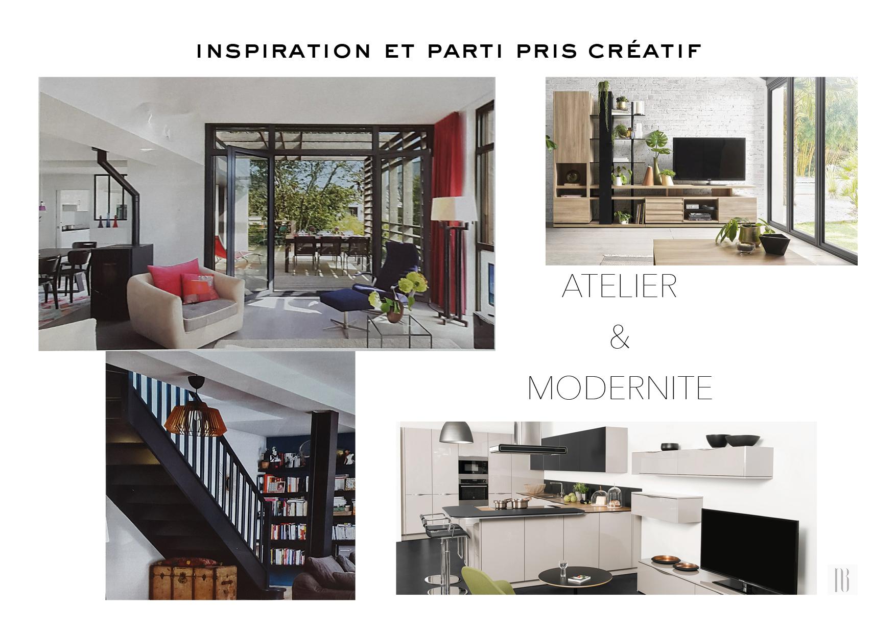 Nathalie Bossard décoration architecture intérieur Rennes 35 UFDI-390 Book déco maison individuelle bretagne sud 2019 inspiration et parti pris créatif atelier modernité