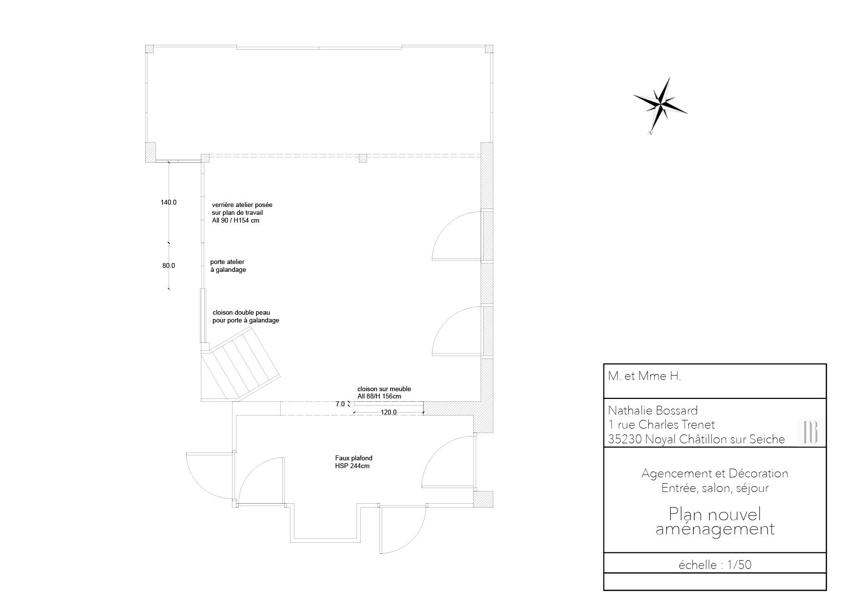 Nathalie Bossard décoration architecture intérieur Rennes 35 UFDI-390 Book déco maison individuelle bretagne sud 2019 plan nouvel aménagement